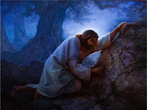 the Garden of Gethsemane  Jesus Praying In Gethsemane Lds